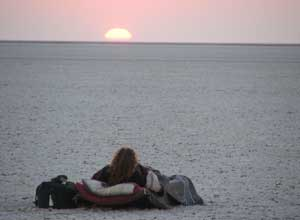 Sleeping out on the Makgadikgadi Pans