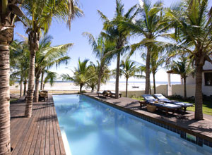 The pool at Ibo Island Lodge