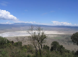The impressive Ngorongoro Crater