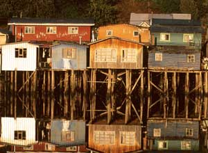 Stilt houses on Chiloe Island