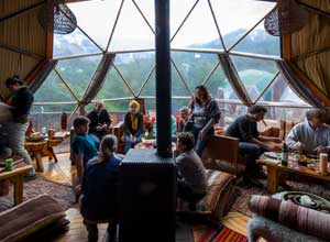 Communal dome at EcoCamp