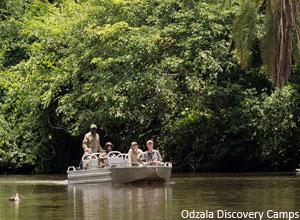 Boat trip on the Lekoli River near Mboko Camp