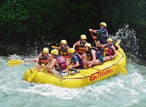 Enjoy some fine white water rafting