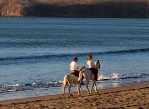 Horse riding at Bahia del Sol