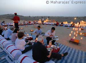 Dinner in the Thar Desert