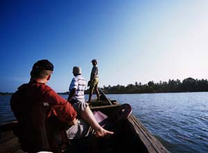 Boat trips in Nila, India