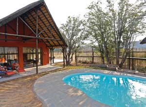 The pool at Hobatere Lodge