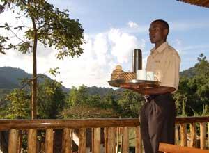 Breakfast at Buhoma Lodge