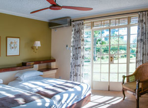 Sunny bedroom at Ilala Lodge