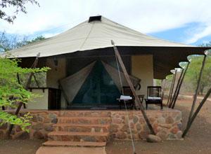 Tent at White Elephant Lodge