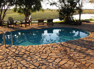 The pool at Kafunta River Lodge