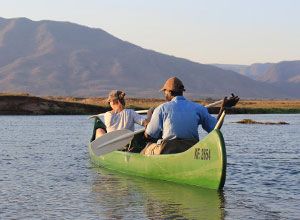 Canoeing from Zambezi Expeditions at Mana Pools